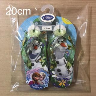 ディズニー(Disney)の⑪ アナと雪の女王   オラフバージョン ビーチサンダル  サイズ 20cm(サンダル)