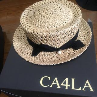 カシラ(CA4LA)のカシラ カンカン帽(麦わら帽子/ストローハット)