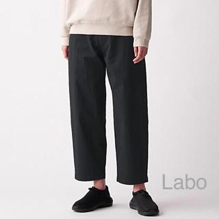MUJI (無印良品) - 無印良品  MUJI Labo   綿混撥水ワイドパンツ 男女兼用XS・黒