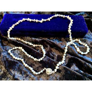 ミツコシ(三越)の三越 シルバー 不揃いパールネックレス ケース付き 真珠(ネックレス)