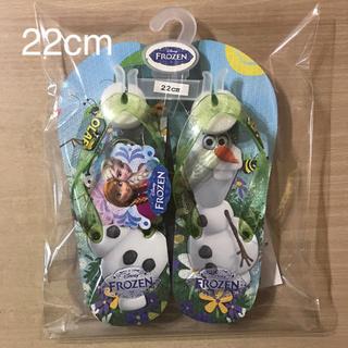 ディズニー(Disney)の⑭ アナと雪の女王   オラフバージョン ビーチサンダル  サイズ 22cm(サンダル)