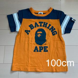 A BATHING APE - 【A BATHING APE】オレンジTシャツ(100cm)