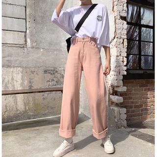 人気あり売れ筋美シルエット着やせハイウエスト カジュアルパンツ(カジュアルパンツ)