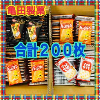 カメダセイカ(亀田製菓)の亀田製菓 ハッピーターン100枚・ソフトサラダミニ50枚・海苔巻せんべい50枚(菓子/デザート)