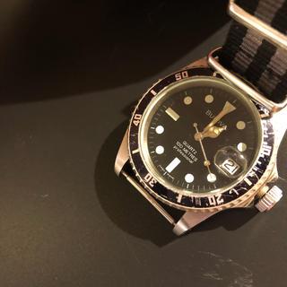SEIKO - ブローバ ダイバー 腕時計縁無し夜光クォーツ時計 ダイバーズヴィンテージ 80s
