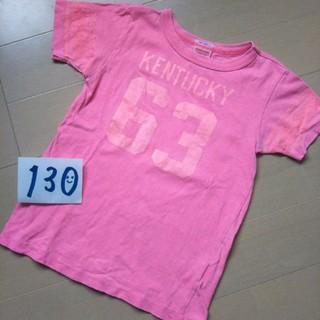 デニムダンガリー(DENIM DUNGAREE)のデニム&ダンガリー 130 Tシャツ ネオンカラー 蛍光 ピンク(Tシャツ/カットソー)