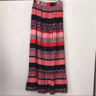 Lochie - 花柄 ロングスカート USA vintage ティアードスカート マキシスカート
