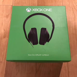 エックスボックス(Xbox)のMicrosoft XBOX ONE ステレオ ヘッドセット(ヘッドフォン/イヤフォン)
