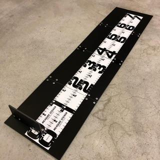 アルミ板メジャーボードスケール【黒】ステッカー付き(ルアー用品)