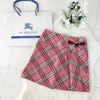 BURBERRY BLUE LABEL - ★BURBERRY BLUE LABEL ピンクの巻きスカート