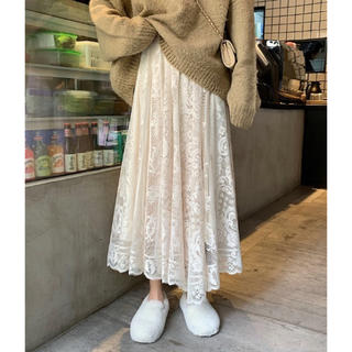 Diosfront 花柄刺繍レースロングスカート