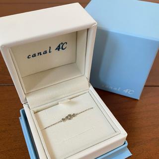 カナルヨンドシー(canal4℃)のカナル4℃ ♡ K10 WG ハート3連 ダイヤモンド ブレスレット(ブレスレット/バングル)