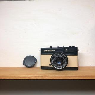 オリンパス(OLYMPUS)の*希少 black*OLYMPAS TRIP 35【beige】整備品、完動品(フィルムカメラ)