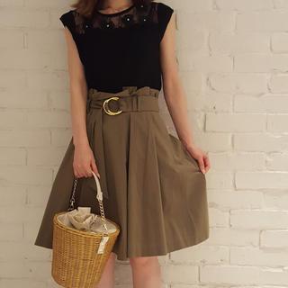 トランテアンソンドゥモード(31 Sons de mode)の31 Sons de mode ベルト付きスカート(ひざ丈スカート)