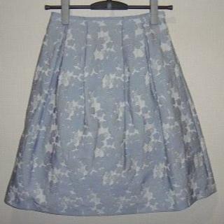 ナチュラルビューティー(NATURAL BEAUTY)のNATURAL BEAUTY Purpose フラワーモチーフジャガードスカート(ひざ丈スカート)