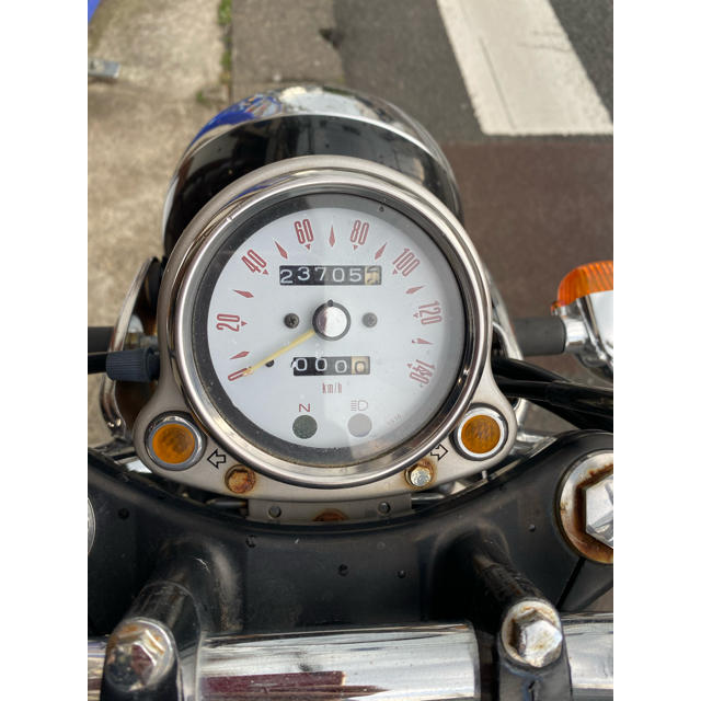 カワサキ(カワサキ)のカワサキ エストレヤ 250  紺色 整備済み全国配送可能 分離型、一体型交換可 自動車/バイクのバイク(車体)の商品写真