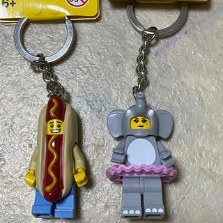 レゴ(Lego)のレゴ ミニフィギュア  キーチェーン 大人気 ホットドッグ ぞう(キャラクターグッズ)
