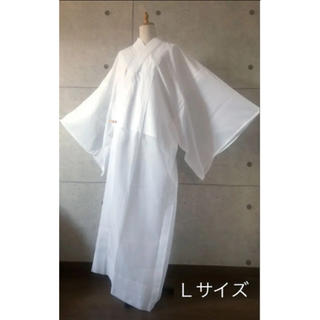 ■新品 長襦袢 夏用 東襟 肌着 着物スリップ 白 日本製 L■(着物)