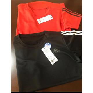 adidas - アディダス 半袖シャツ 2枚セット 150 ブラック レッド