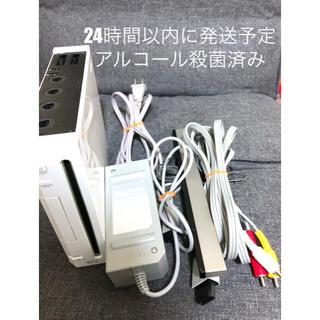 ウィー(Wii)のWii 本体 初期化済み(家庭用ゲーム機本体)