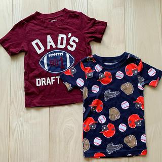 カーターズ(carter's)の〈新品未使用 野球モチーフ柄〉Carter'sカーターズTシャツ 男の子90㎝(Tシャツ/カットソー)