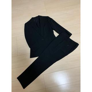スーツカンパニー(THE SUIT COMPANY)の【美品】夏用 紺 白ストライプ パンツスーツ サイズ38(スーツ)