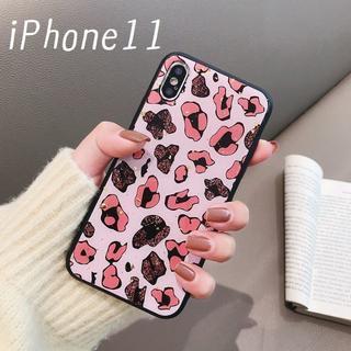 大人気!iPhone11 レオパード柄 カバー ケース ピンク(iPhoneケース)
