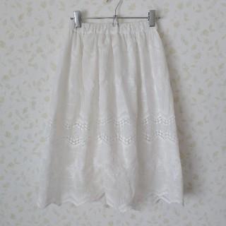 シマムラ(しまむら)の試着のみ♡白スカート♡Mサイズ(ひざ丈スカート)