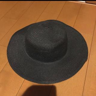 エイチアンドエム(H&M)のH &M  ツバ大きめ帽子(麦わら帽子/ストローハット)