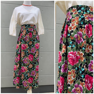 L'Appartement DEUXIEME CLASSE - ♡made in USA♡花柄スカート ロングスカート ヴィンテージ 柄スカート