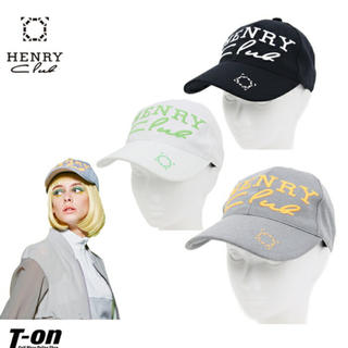 パーリーゲイツ(PEARLY GATES)の【新品未使用】ヘンリークラブ ゴルフ レディース キャップ グレー(キャップ)