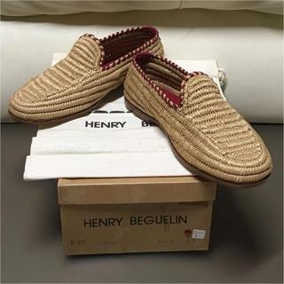 エンリーべグリン(HENRY BEGUELIN)の美品⭐︎HENRY BEGUELIN⭐︎フラットシューズ。プラダ、グッチ、コーチ(ローファー/革靴)