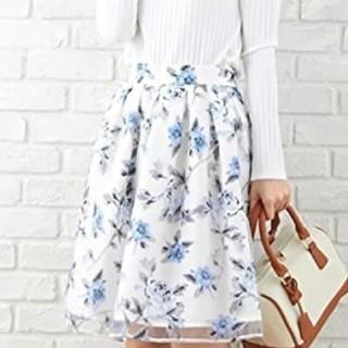 INGNI - 花柄オーガンジースカート