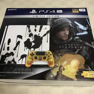 プレイステーション4(PlayStation4)の未開封 デスストランディング PS4 新品 PRO(家庭用ゲーム機本体)