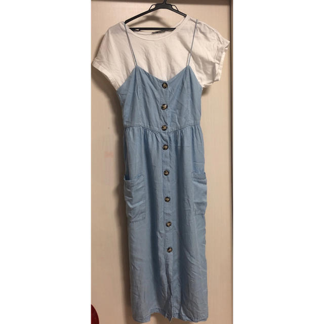 ZARA(ザラ)のザラ ワンピース ティシャツ レディースのワンピース(ひざ丈ワンピース)の商品写真