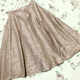 アクシーズファム(axes femme)のジャガードミディスカート(ひざ丈スカート)