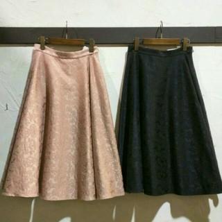 アクシーズファム(axes femme)のジャガードミディスカート 2点セット(ひざ丈スカート)