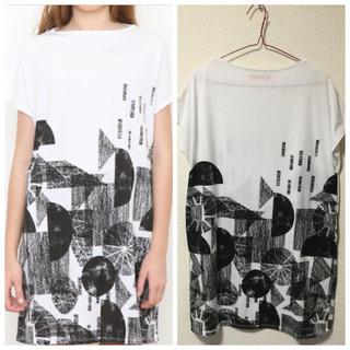 グラニフ(Design Tshirts Store graniph)のジオメトリックボトルネックワンピース(ひざ丈ワンピース)
