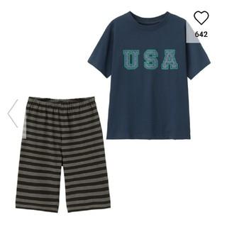 ジーユー(GU)のGU 110㎝ キッズパジャマ 半袖パジャマ USA(パジャマ)