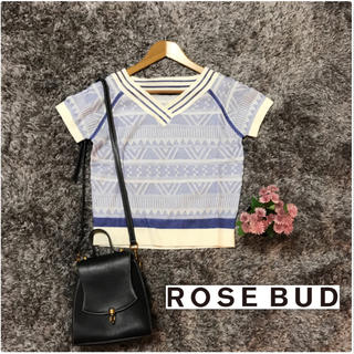 ローズバッド(ROSE BUD)の美品♡ ROSEBUD ラメ入りトップス(カットソー(半袖/袖なし))