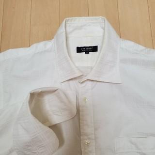 バーバリーブラックレーベル(BURBERRY BLACK LABEL)の白Yシャツ(シャツ)