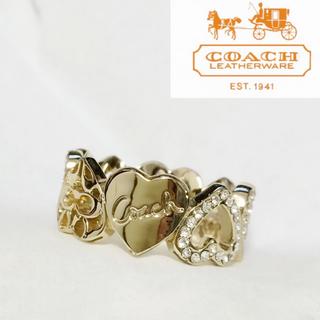 コーチ(COACH)の【正規品】美品♡コーチ♡リング♡ハート♡(リング(指輪))