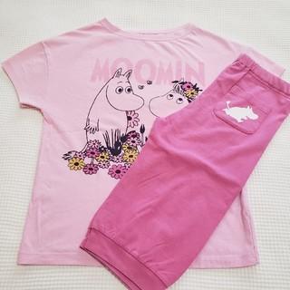 ユニクロ(UNIQLO)のユニクロ キッズ ムーミンプリントパジャマ ピンク(パジャマ)