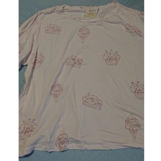 gelato pique - ジェラートピケ HAPPY BIRTHDAYロゴTシャツ ピンク