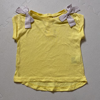 petit main - プティマイン♡リボンTシャツ 90