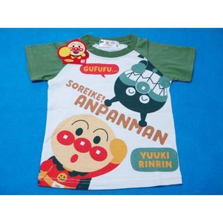 アンパンマン - お値下げ中! 100cm アンパンマン ラグラン半袖Tシャツ カーキー