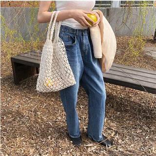 アリシアスタン(ALEXIA STAM)のpaper bag with purse【beige】(トートバッグ)