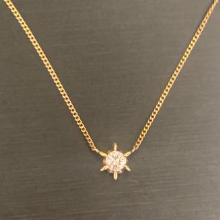 K18 0.21ct 天然ダイヤモンド ネックレス 2.0g