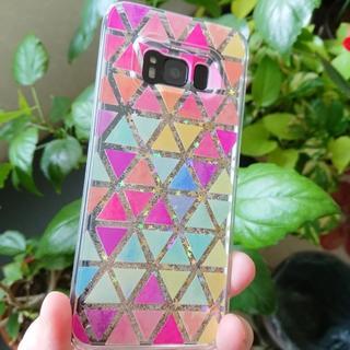 Galaxy S8 綺麗 キラキラ 砂金 が流れる ハードケース(Androidケース)