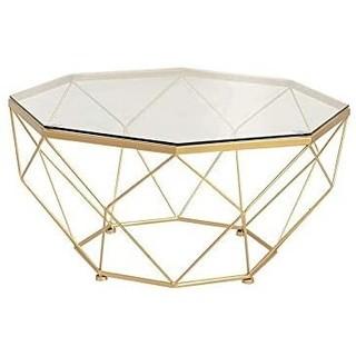 ゴールドアイアンガラステーブル(ローテーブル)